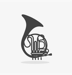 logo with french horn vector image