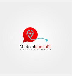 Medical consult care icon template creative logo vector