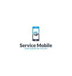Mobile logo design service vector