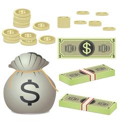 money set vector image vector image