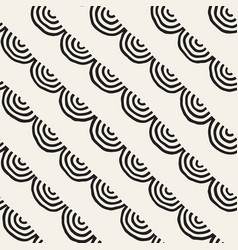 monochrome minimalistic seamless pattern with arcs vector image