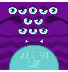 Monster Eye vector image