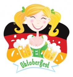Oktoberfest Bavarian female vector