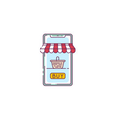 online phone shop vector image