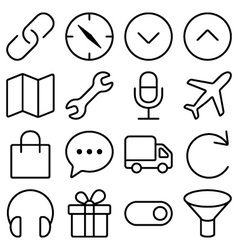Outline ui pack10 vector