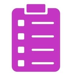 Pad Form Icon vector