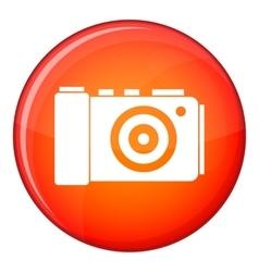Photo camera icon flat style vector