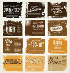 Premium best choice grunge brown banner vector