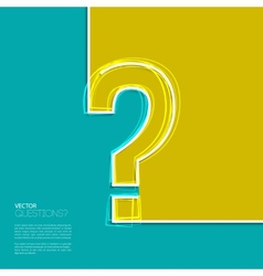 question mark icon in flat design vector image