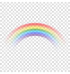 Rainbow icon realistic 2 vector