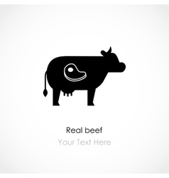 Real beef vector image