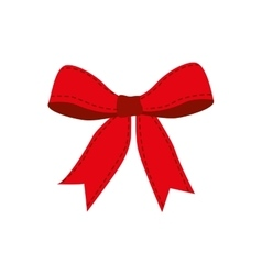 Red ribbon bowtie icon vector