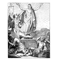 Resurrection jesus christ bible new testament vector