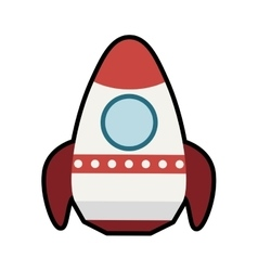 Rocket icon Spaceship design graphic vector
