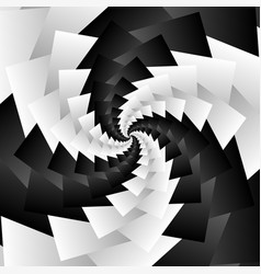 Rotating spiral grayscale geometric background vector