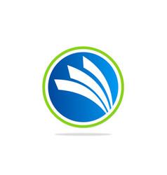 Round business finance loop blue logo vector