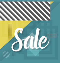 sale paper lettering template modern sale vector image