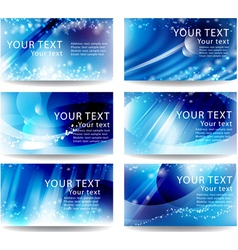 Set cards with a blue background vector