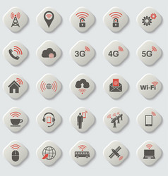 set of universal icons for web and mobile vector image