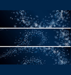 Set of winter abstract snowflakes banners vector