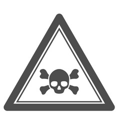 Skull death triangle seal template vector