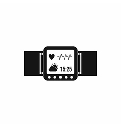 Smartwatch icon in simple style vector image