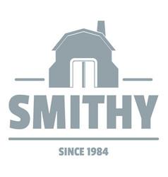 Smithy logo simple gray style vector
