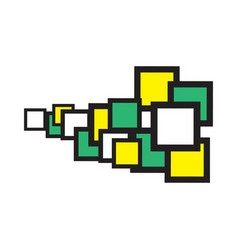 Square-space-yellow-green-centr vector