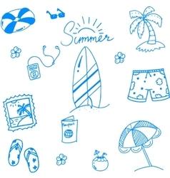 Summer of doodles for kids vector