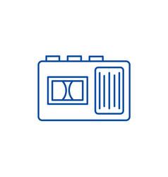 tape recorder line icon concept tape recorder vector image