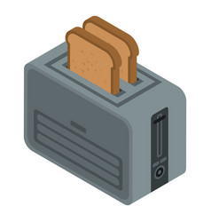 toaster device icon isometric style vector image
