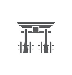 torii gate icon symbol japanese icon isolated on vector image