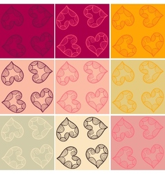 Valentine cards seamless vector