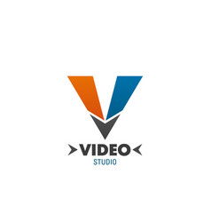 video studio icon for branded business card design vector image