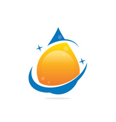 Water drop bio ecology logo image vector