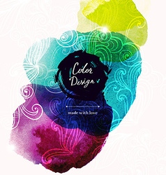 watercolor texture design vector image