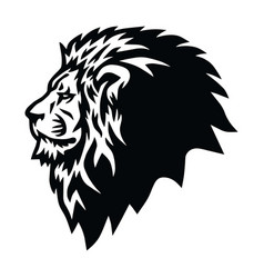 Wild lion head logo mascot design vector