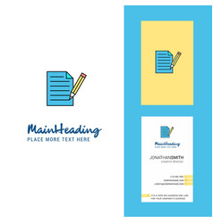 write document creative logo and business card vector image