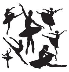 Ballet silhouettes vector