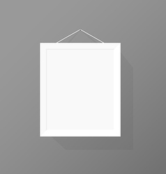Blank picture frame on the wall vector image vector image
