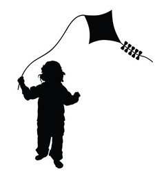 child playing dragon in black vector image