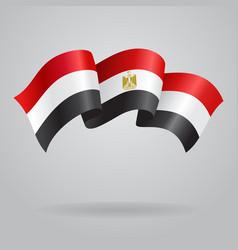 Egyptian waving Flag vector image