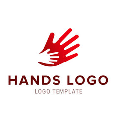 hand to hand logo abstract logo design vector image vector image