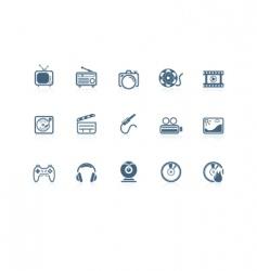 media icons piccolo series vector image
