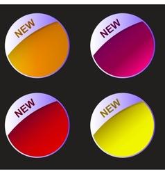 New labels set vector image
