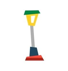 Street lamp lantern flat vector image