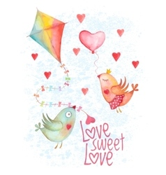 Valentine day greeting cover vector