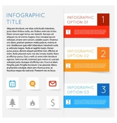 Abstract modern flat infographics options banner vector image vector image