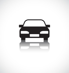 Car icon with shadow vector image