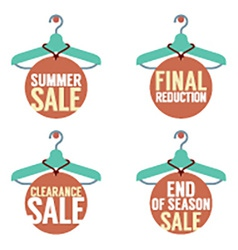 Clothes Hangers With Sale Tag vector image